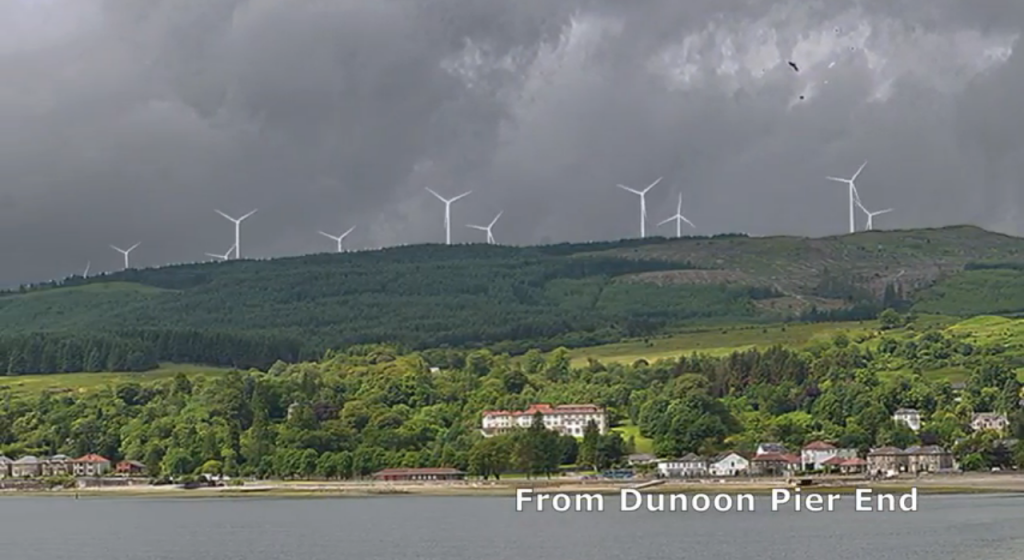 View from Dunoon pier